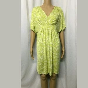 AK ANNE KLEIN dress V neck size S/M green lime